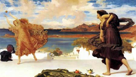 Frederic Leighton - Griechische Mädchen beim Ballspiel