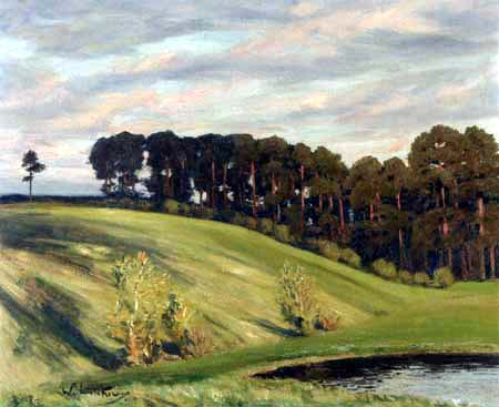 Walter Leistikow - Landscape near Brandenburg with lake