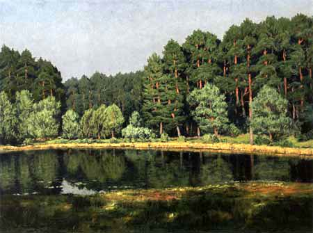 Walter Leistikow - Forest landscape on a lake
