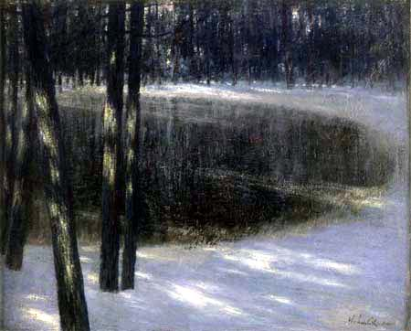 Walter Leistikow - A forest lake in winter
