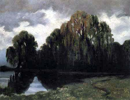 Walter Leistikow - A lake in the forest
