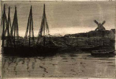 Walter Leistikow - Hafenbild