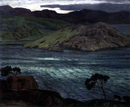Walter Leistikow - Abend in norwegischer Landschaft