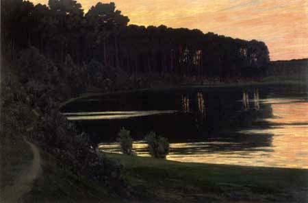 Walter Leistikow - Sunset over the Grunewaldsee