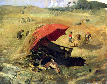 Franz von Lenbach - Der rote Schirm