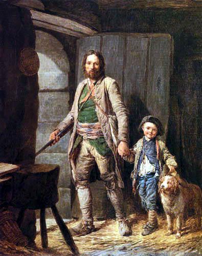 Nicolas-Bernard Lépicié - The Departure of the Poacher