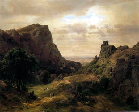 Karl Friedrich Lessing - Harzlandschaft