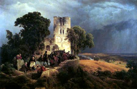 Karl Friedrich Lessing - Die Belagerung