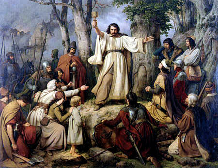Karl Friedrich Lessing - Sermon of Hussites