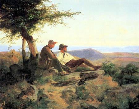 Karl Friedrich Lessing - Zwei Jäger im Gebirge