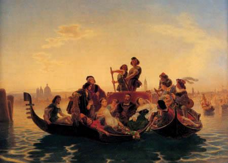 Emanuel Gottlieb Leutze - Tizian auf der Lagune