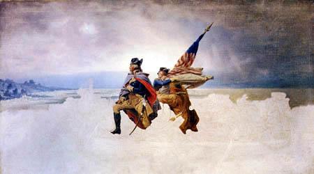 Emanuel Gottlieb Leutze - Washington überquert den Delaware, unvollendet