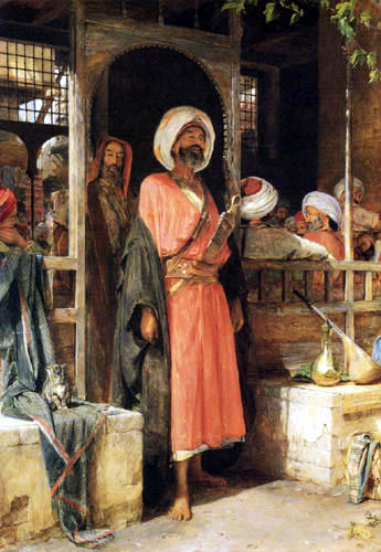John Frederick Lewis - The Door of a Cafe in Cairo