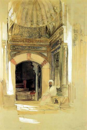 John Frederick Lewis - Eingang zum Grab des Sultans Bayezid, Konstantinopel