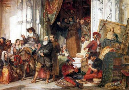 John Frederick Lewis - Die Plünderung eines Klosters in Spanien, durch die Guerilla