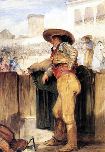 John Frederick Lewis - A Picador watching the Kill