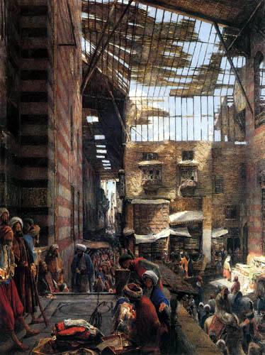 John Frederick Lewis - Strasse und Moschee Ghooreyah, Kairo