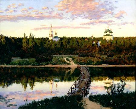 Isaak Iljitsch Lewitan - Monastery on the river
