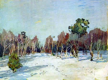 Isaak Iljitsch Lewitan - Jardin dans la neige