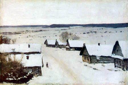 Isaak Iljitsch Lewitan - Aldea en el invierno