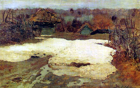 Isaak Iljitsch Lewitan - The last snow, Sawwinskaja Sloboda