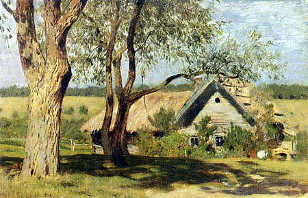 Isaak Iljitsch Lewitan - Little house with willow trees