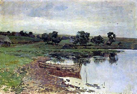 Isaak Iljitsch Lewitan - La rivière, étude
