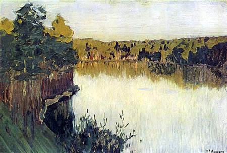 Isaak Iljitsch Lewitan - Sonnenuntergang an einem Waldsee