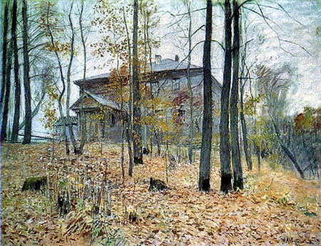 Isaak Iljitsch Lewitan - A farm house in the autumn
