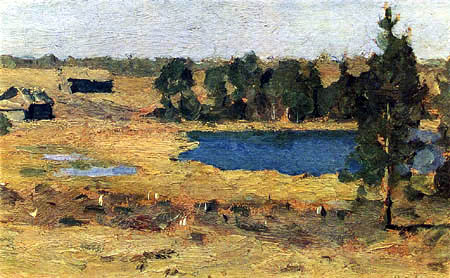 Isaak Iljitsch Lewitan - Lake - Hovel at the edge of forest