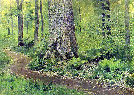 Isaak Iljitsch Lewitan - The way in the hardwood forest with fern