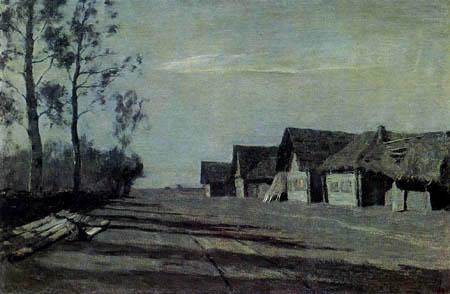 Isaak Iljitsch Lewitan - Village dans le clair de lune