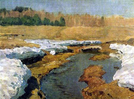 Isaak Iljitsch Lewitan - Primavera, la nieve ultima