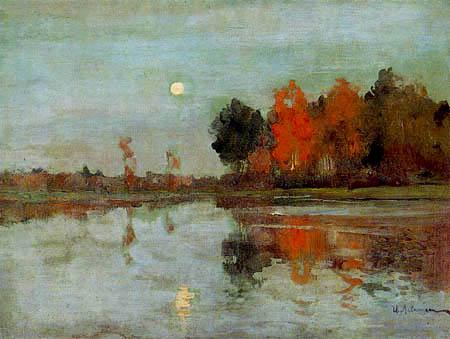 Isaak Iljitsch Lewitan - Aube avec la lune