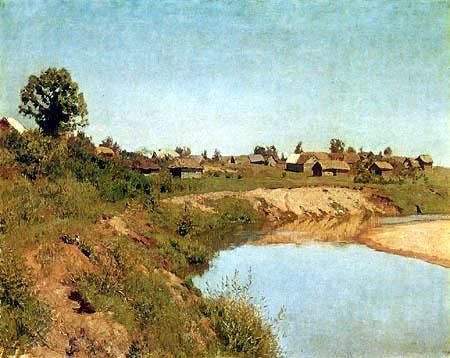 Isaak Iljitsch Lewitan - Dorf am Flussufer