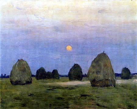 Isaak Iljitsch Lewitan - Haystack in the dawn
