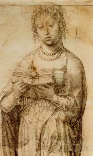 Lucas van Leyden - A reading Girl