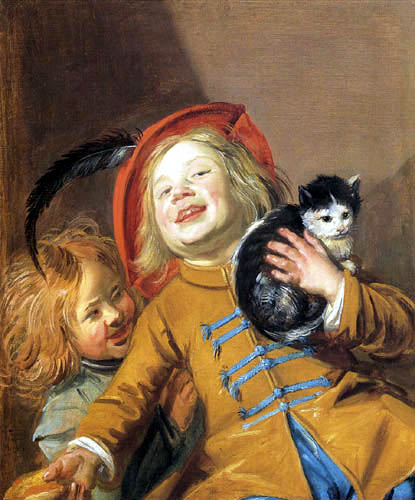 Judith Leyster - Two children with a cat