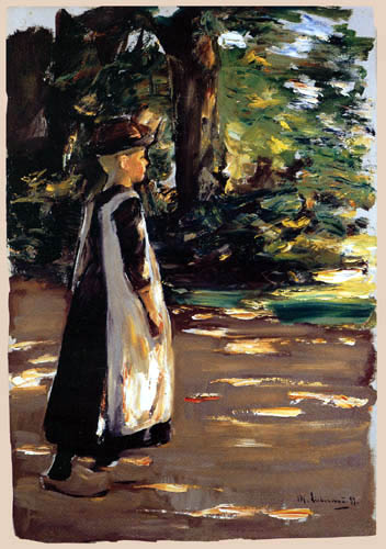 Max Liebermann - Walking girl