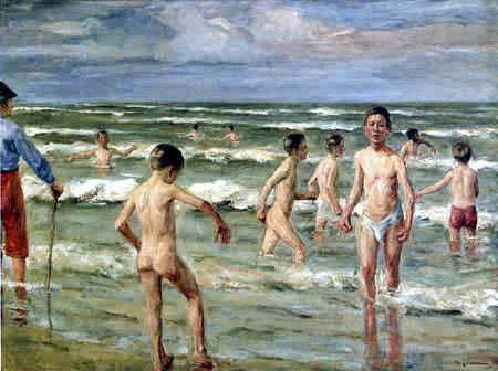 Max Liebermann - Bathing boys