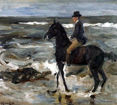 Max Liebermann - Riding at the sea