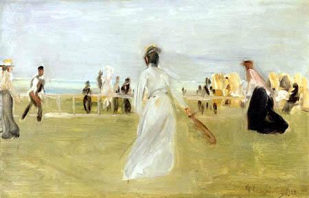 Max Liebermann - Tenisplayer at the sea of Scheveningen