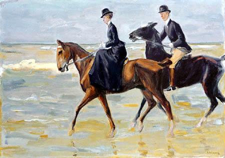 Max Liebermann - Riders on the beach