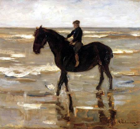 Max Liebermann - Boy and horse