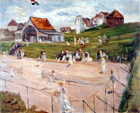 Max Liebermann - Tenis court with players near Noordwijk