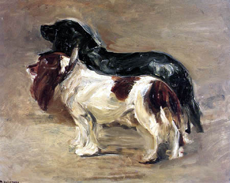Max Liebermann - Two dogs