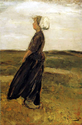 Max Liebermann - Fisherswife in dunes