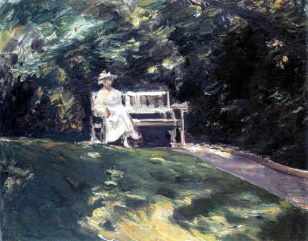 Max Liebermann - Die Gartenbank