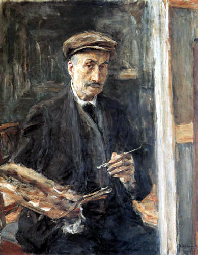 Max Liebermann - Selfportrait with cap and easel