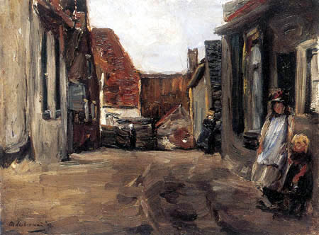 Max Liebermann - Street in a village of Zandvoort, Holland